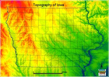 Topography of Iowa
