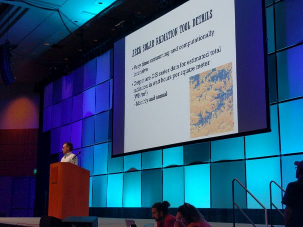 John DeGroote presents a lightning talk at ESRI International User Conference in San Diego